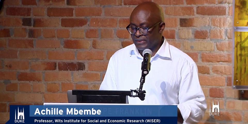Le Camerounais Achille Mbembe, Premier Africain À Remporter Le «Gerda Henkel Prize».