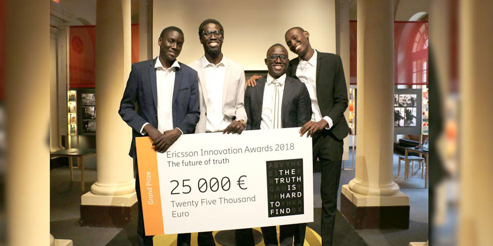 Ericsson Innovation Awards (Eia) 2018 : 4 Étudiants Sénégalais Remportent Le 1er Prix
