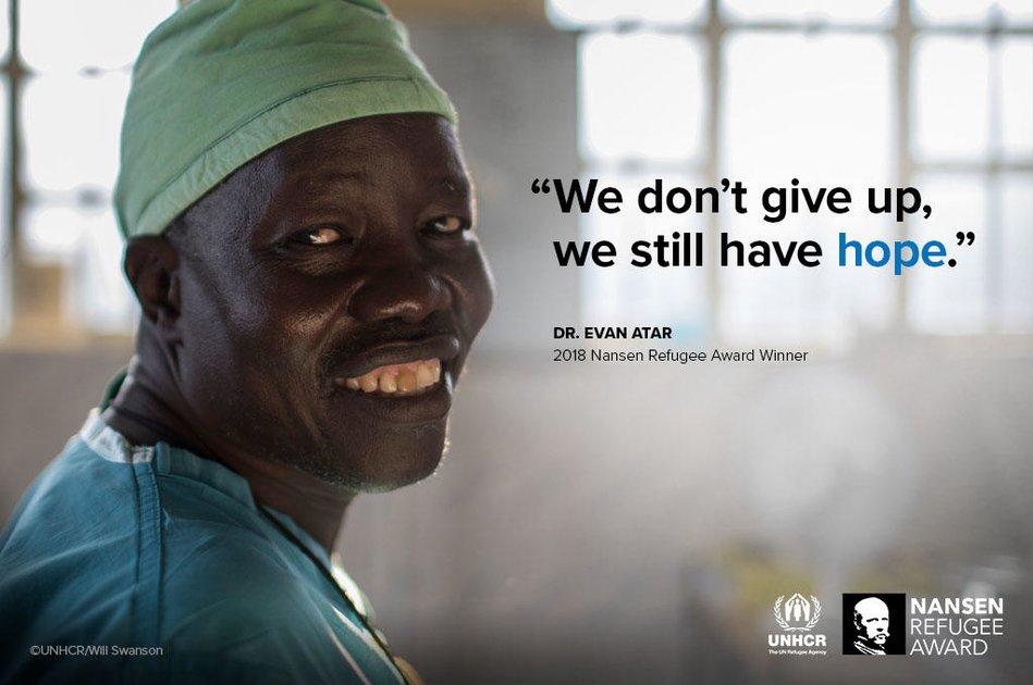 Le médecin soudanais Evan Atar Adaha lauréat du Prix Nansen du HCR
