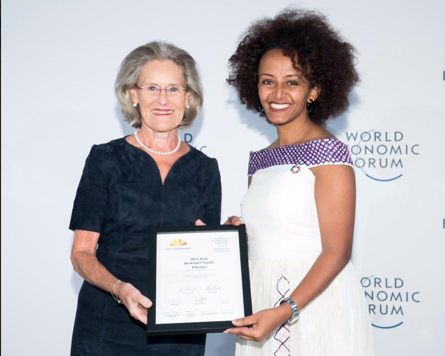 Bruktawit Tigabu, 37 ans, lauréate du Prix «Entrepreneur social de l'année» du Forum économique mondial