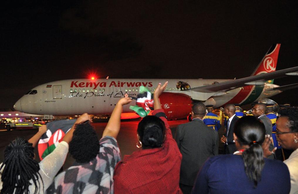 Premier vol direct historique de Kenya Airways vers les USA