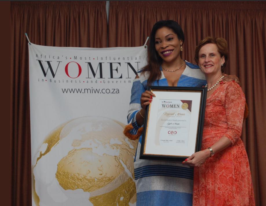 Gisèle Mwepu, spécialiste de la FinTech, lauréate du prix de la femme influente dans le business