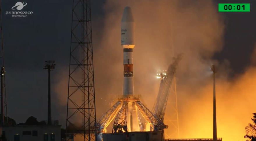 «Icyerekezo», le premier satellite du Rwanda lancé depuis Kourou en Guyane française