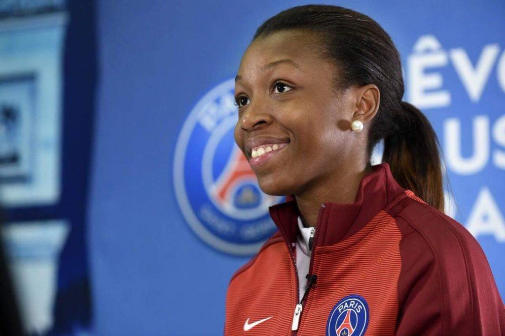 Grace Geyoro, 21 ans, milieu de terrain du PSG et de l'équipe de France