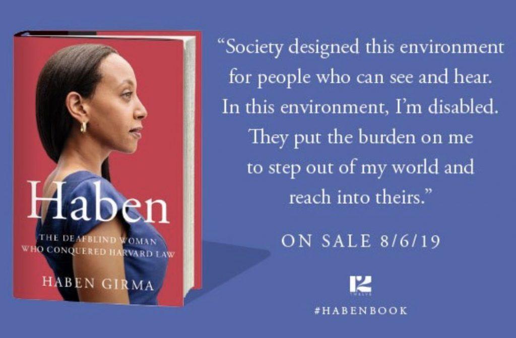 Haben Girma, première diplômée sourde et aveugle de la faculté de droit de Harvard publie son autobiographie