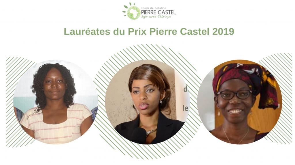 Trois entrepreneures,lauréates du Prix Pierre Castel 2019