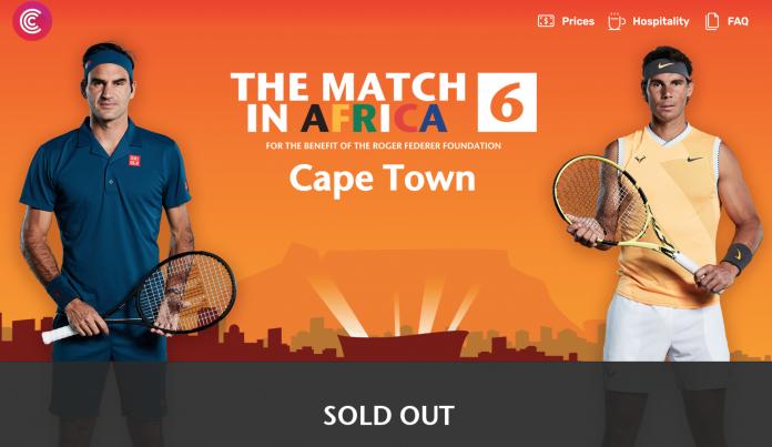 Afrique du Sud: «The Match in Africa 6» entre Federer et Nadal déjà sold out
