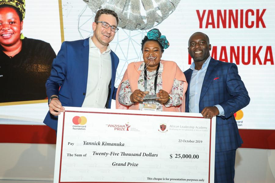 RDC: Yannick Kimanuka,21 ans, lauréate du Prix Anzisha 2019