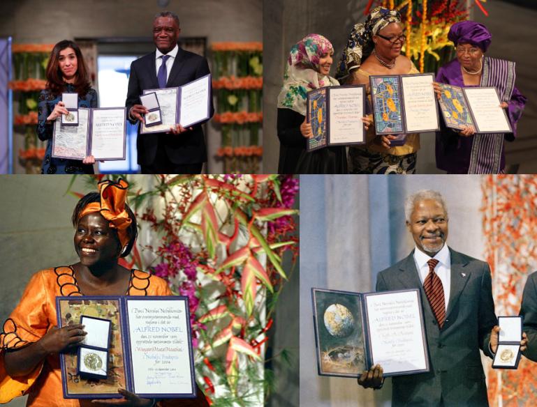 Les personnalités africaines qui ont reçu un Prix Nobel de la Paix