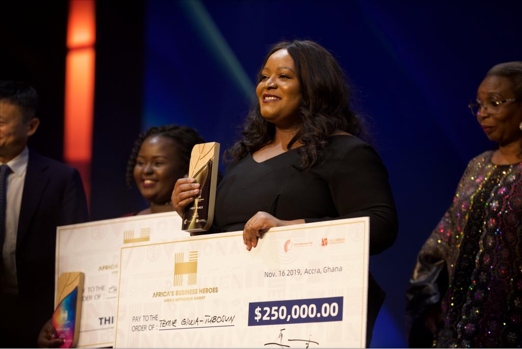 Temie Giwa-Tubosun lauréate de l'Africa Netpreneur Prize de la Fondation Jack Ma