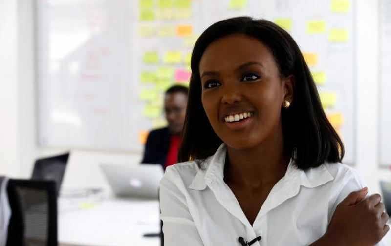 Jihan Abass,26 ans,créatrice de la première compagnie d'assurance automobile numérique du Kenya