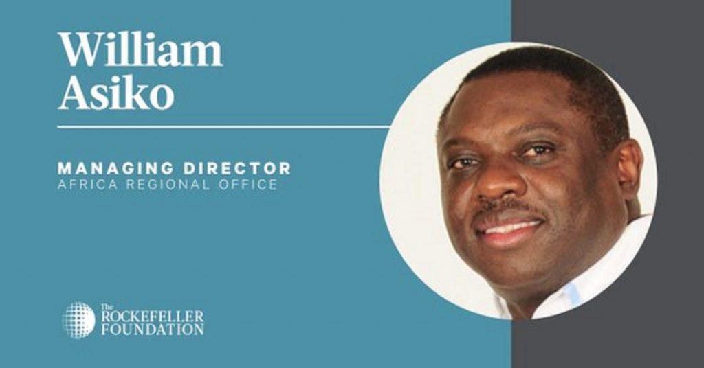 William Asiko nouveau Directeur général Afrique de la Fondation Rockefeller