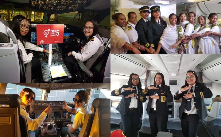 Ethiopian Airlines et Kenya Airways ont opéré des vols avec un personnel entièrement féminin