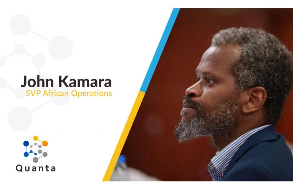 John Kamara nommé Vice-président de Quanta,chargé des opérations en Afrique