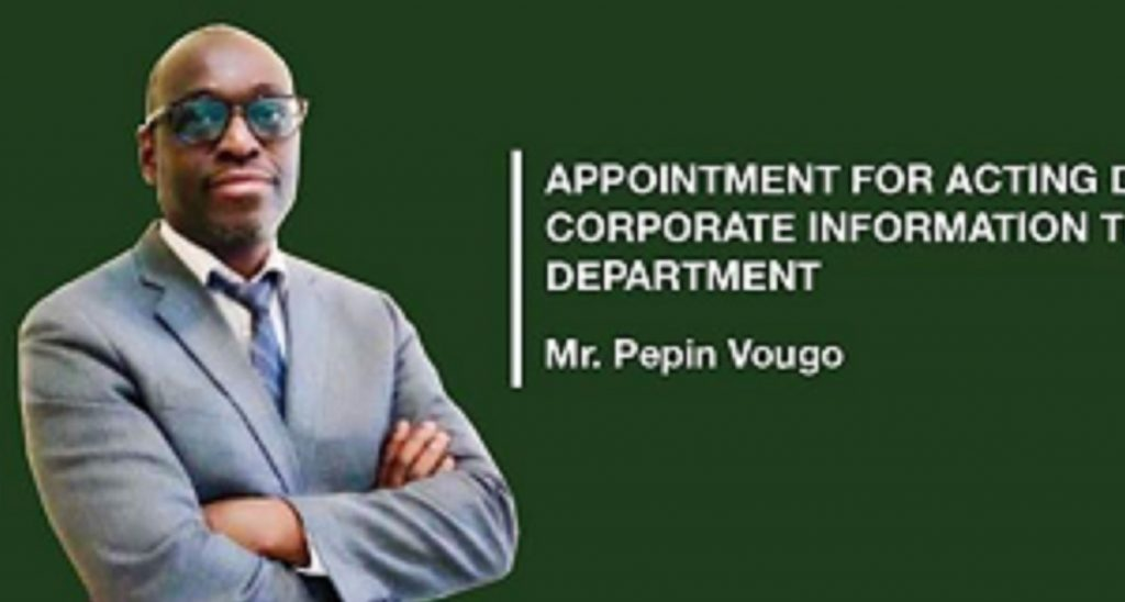 Pépin Vougo, nommé directeur par intérim du département des technologies de l'information de la BAD