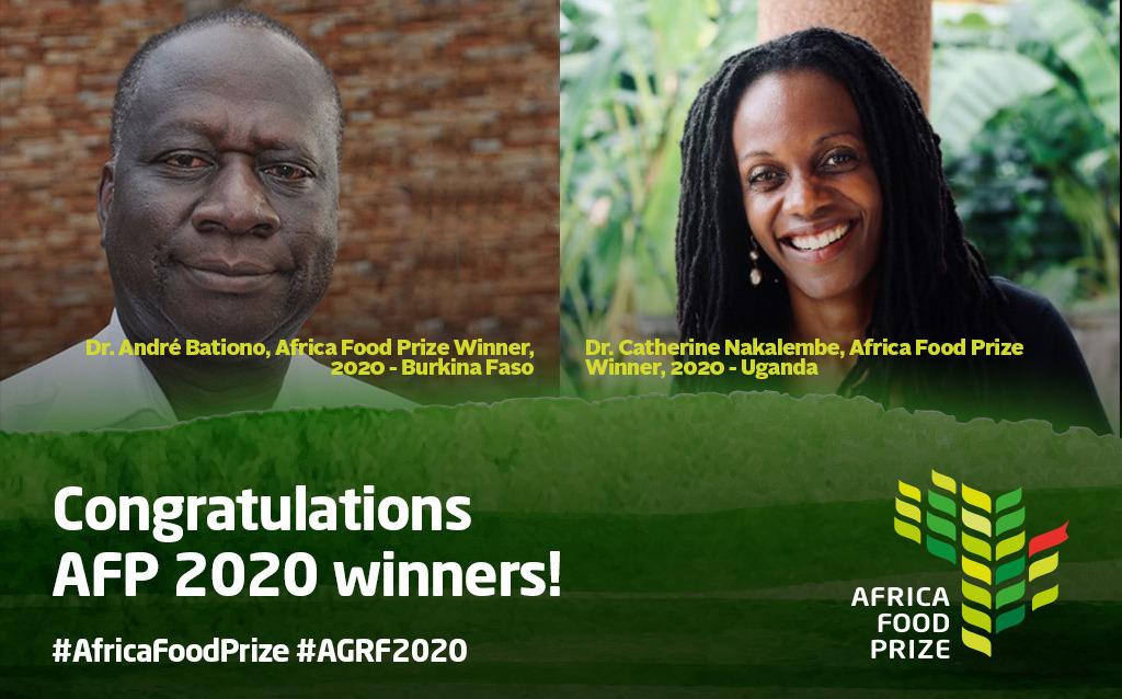 Le Dr André Bationo et le Dr Catherine Nakalembe remportent l'Africa Food Prize 2020