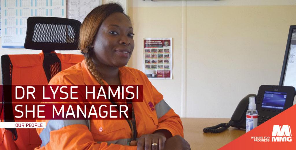 RDC: Dr Lyse Hamisi, Directrice-SHE (sécurité, santé et environnement) à la mine de Kinsevere