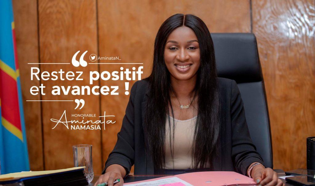RDC: Aminata Namasia, 28 ans, la plus jeune ministre du nouveau gouvernement