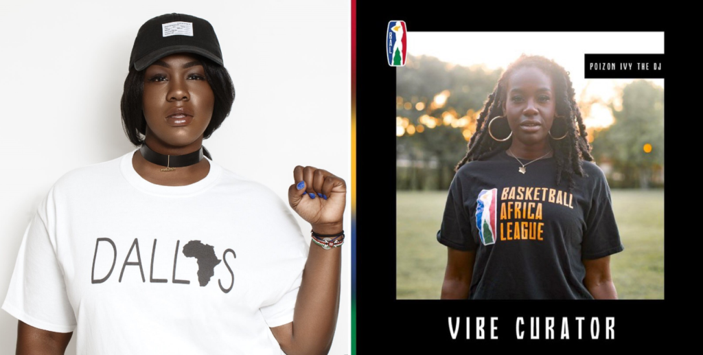 Dj Poizon Ivy, la DJ qui va «ambiancer» la première édition de la Basketball Africa League