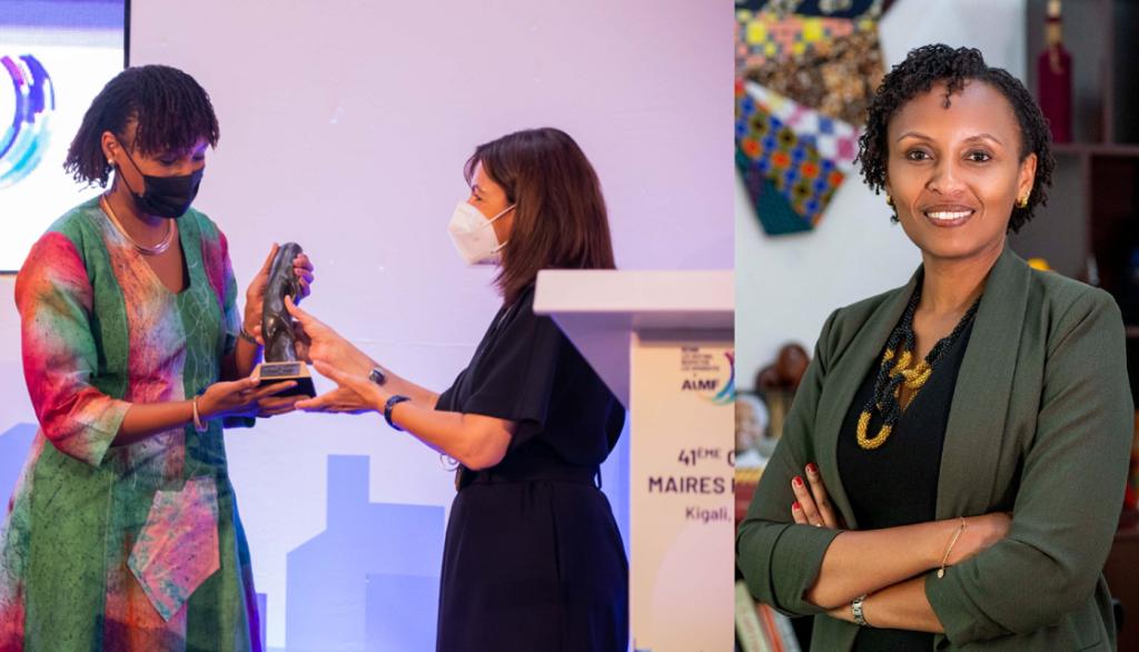 Lydie Hakizimana,lauréate du prix 2021 de la femme francophone de l'année de l'AIMF
