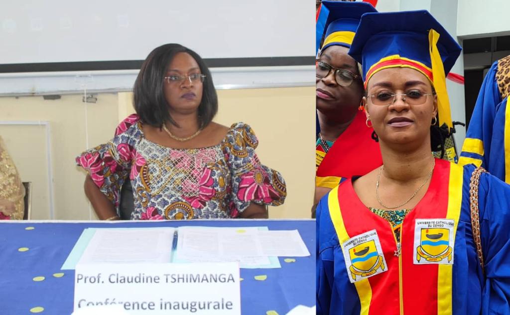 RDC: Prof Claudine Tshimanga,1ère femme nommée Doyenne d'une Faculté à l'Université Catholique du Congo