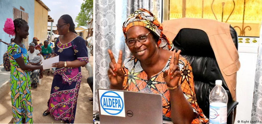 La camerounaise Marthe Wandou lauréate du «Prix Nobel Alternatif»
